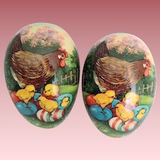 Impressive Huge W. German Papier Mache Easter Egg