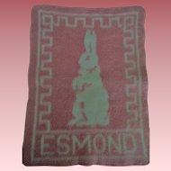 Lovely Vintage Esmond Baby Bunny Blanket for Effanbee