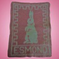 Lovely Vintage Esmond Baby Bunny Blanket for Effanbee