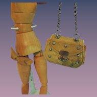 French Fashion Leather Doll Purse * TLC