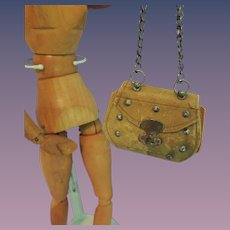 French Fashion Leather Doll Purse * TLC