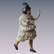German All Bisque Flapper with Long Yellow Stockings