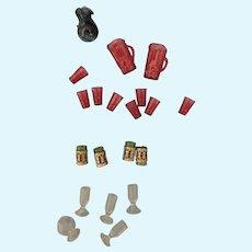 Doll House Miniature Plastic Drinkware