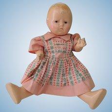 """Effanbee Composition and Cloth """"Grumpy"""" Doll Needing TLC"""