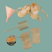 """Baby Doll Group of Shoes, Amsco Funnel """"Honey Girl"""" Hang Tag and More"""
