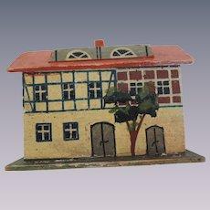 Nice German Painted House Miniature