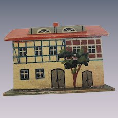 Nice German Painted House Miniature