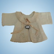 Lovely Embroidered Baby Doll Jacket with Sterling Pin