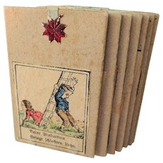 Early German Picture Puzzle with Colored Pictures of Children