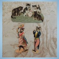 Darling Victorian Scraps of Kittens and Baby Chicks