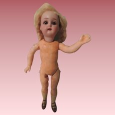 Darling Little SH KR German Bisque Head To Dress