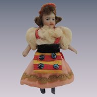 Darling French Lilliputian SFBJ All Bisque Doll