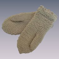 Darling Knit Mittens for German or French Fashion Doll