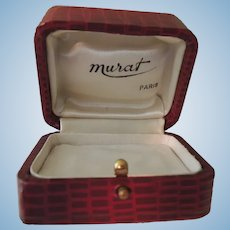 """Lovely Red Paris Box with White Satin Lining by """"Murat"""""""