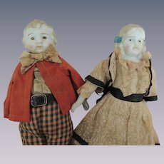 Pair Brother and Sister Dolls In Original Clothes