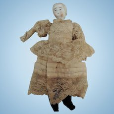 Sweet 10 Inch Parian Shoulder Head Doll with Nice Kid Body