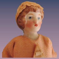 Lovely Miniature Doll House Maid with Molded Bun