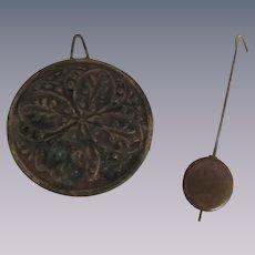 Ornate Clock Pendulum and Small Pendulum