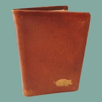 Miniature Soft Brown Leather  Calendar Book 1933