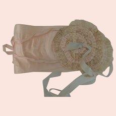 Lovely Vintage Silk 1920's Flapper Ladies Boudoir Sleep Bandeau Cap