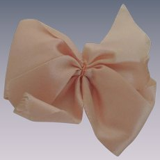 Lovely Large Vogue Ginny Pale Pink Satin Bow with Clip