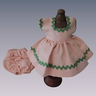 Sweet Pink Waffle Pique Dress and Bloomers for Vintage Eight Inch Doll