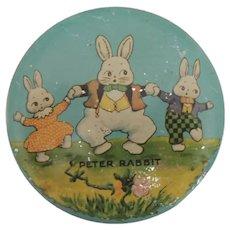 Peter Rabbit Round Tindeco Candy Tin