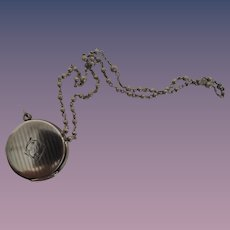 Miniature Sterling Locket with Rosary for Dolls
