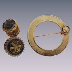 Vintage Rotary International Pins and American Legion