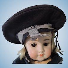 Boy's Doll's Navy Blue Sailor Style Hat