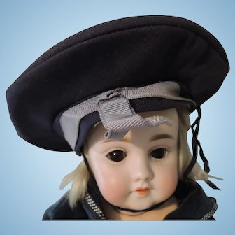 Boy's Doll's Navy Blue Sailor Style Hat