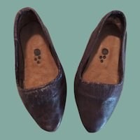 Charming Brown Leather Slip On Shoes for Large Doll