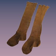Nice Sturdy Brown Cotton Stockings for Large Doll