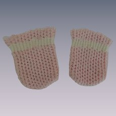 Pink Woven Baby Doll Socks for Tiny Tears, Betsy Wetsy and Others