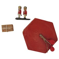 Sweet Red Christmas Candy Box with Tiny Soldiers