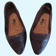 Sweetest Soft Brown Leather Slip On Shoes for Large Doll