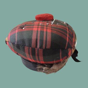Scottish Tartan Fabric Pin Cushion
