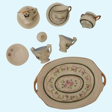 Miniature China Tea Set for Doll House or Display