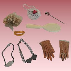 Accessories for Fashion Dolls with Tiny Leather Gloves