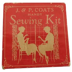 Sewing Kit with Thread * J & P Coats Clark In Tiny Size