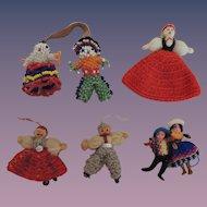 Tiny Crochet and Beaded Dolls
