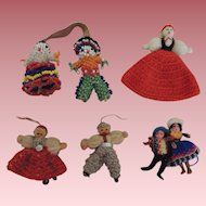 Tiny Crochet and Beaded Dolls