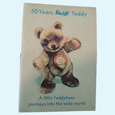 """50 Years Steiff Teddy"" Booklet Germany"