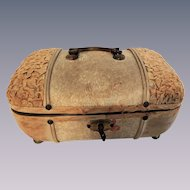 Petite Trunk Perfect for Mignonette or Other Small Dolls and Trousseau