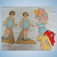 Giant Sized Twin Paper Dolls with Wardrobes