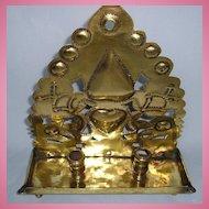 18th Century Dutch Brass 2-Sconce Table Lamp