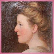 19th Century Unframed German Oil on Canvas Portrait by Jakob Muller