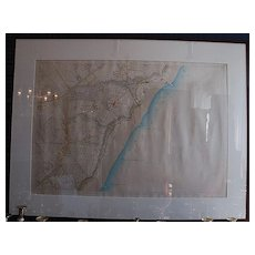 19th Century Hand-colored Map of Quebec from Quebec Estate