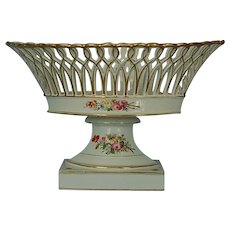 19th Century Continental Reticulated Porcelain Centerpiece Bowl