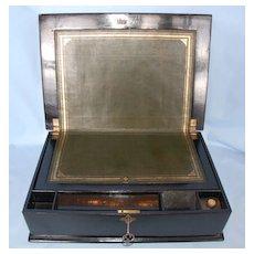 19th Century English Papier Mache Lap Desk or Writing Slope